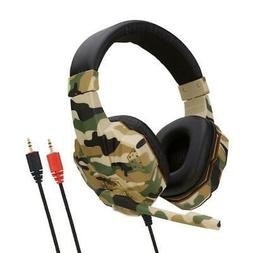 High Quality Army Green Gaming Headset With Microphone Fone