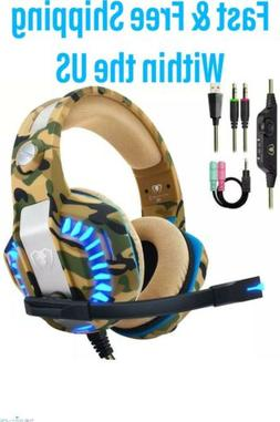 High Quality Camo Beexcellent Pro Stereo Gaming Headset for
