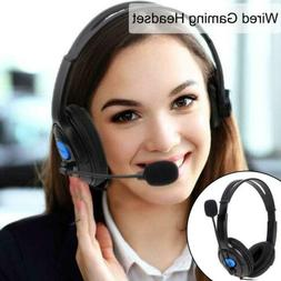 Hot Wired Gaming Headphone Headset w/Mic for Sony PlayStatio