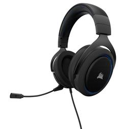 Corsair HS50 BLUE Stereo Gaming Headset Carbon 3.5mm Microph