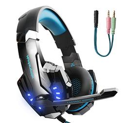 Hunterspider Gaming Headset for PS4, Xbox One Headset with M