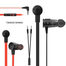 In-Ear Gaming Headset Headphones Earbuds Earphones With Mic