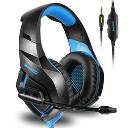 NEW ONIKUMA Stereo Gaming Headset Noise Canceling Mic For PC