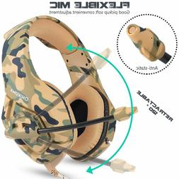 K1 Camo Gaming Headset 3.5mm Stereo Bass Surround Mic for PS