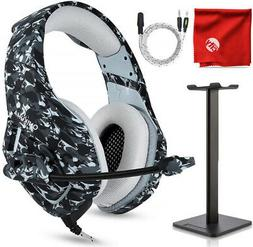 ONIKUMA K1 Camo Gaming Headset and Stand for Xbox One, PS4,