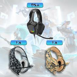 K1 Gaming Headset Camo 3D Stereo Headphone Earphone with Mic