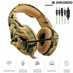 ONIKUMA K1 Stereo Bass Surround Gaming Headset for PS4 New X