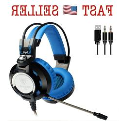 K6 Nubwo Gaming Headset USB 3.5mm Adjustable Microphone for