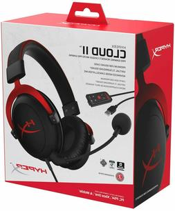 HyperX KHX-HSCP-RD Cloud II Pro Wired Gaming Headset, Red, B