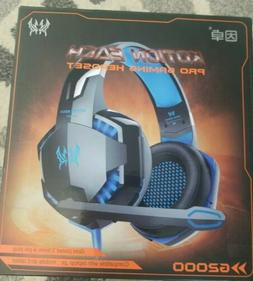 KOTION EACH G2000 Pro Gaming 3.5mm Stereo Headset USB Blue L