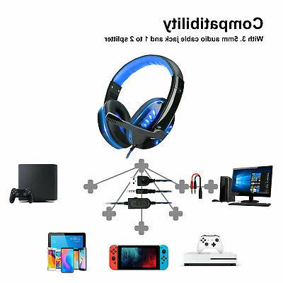 For PS4 Xbox Earphone Stereo with