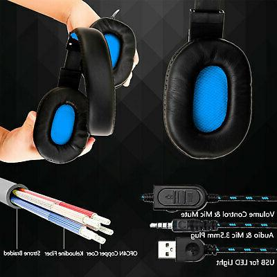 For Gaming Xbox One Earphone 3.5mm Stereo Bass with Mic