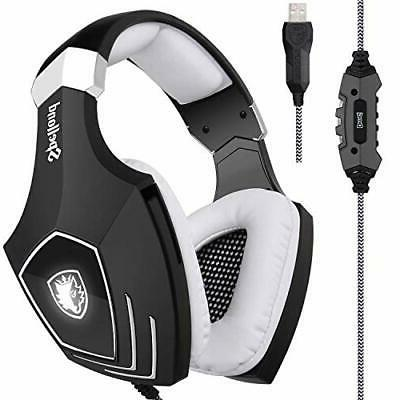 2017 newly updated usb gaming headset sades