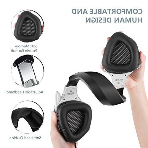 2018 Newest Gaming for Xbox One, PC, Nintendo Stereo Headphones Jack, Noise Cancelling Mic