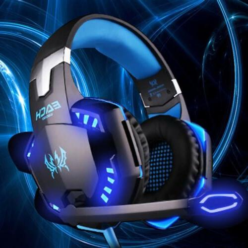 3.5mm Headset LED Gaming w/Mic PS4 Switch