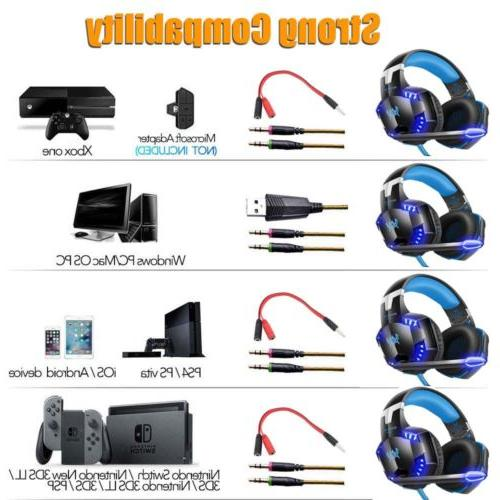 3.5mm Gaming Headphones Stereo for PS3 PS4 Xbox X 360