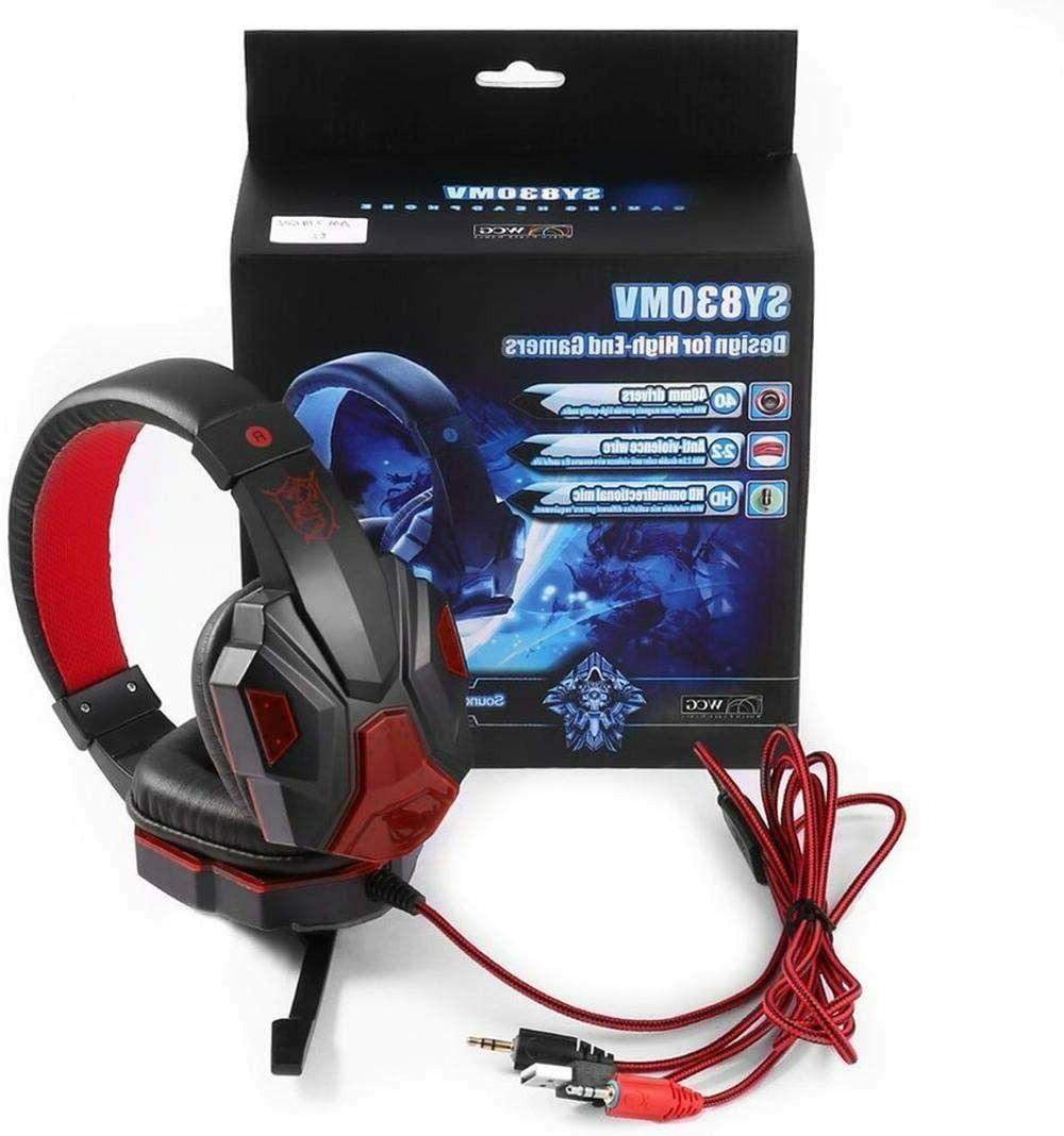 3.5mm LED Headphones Stereo Bass Surround Xbox One PS4