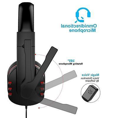 3.5mm Gaming Surround Headphone With For PS3 ONE 360
