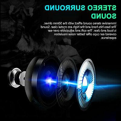 3.5mm Stereo Surround Gaming Headset Mic for PS4 One PC