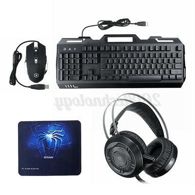4In1 Mouse Mechanical Set USB