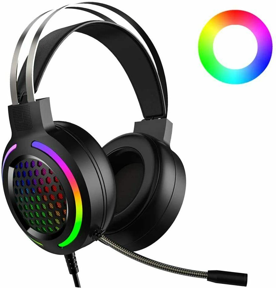 7 1 surround gaming headset with sound