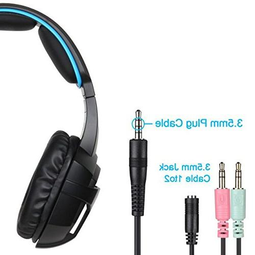 SADES 807 PS4 PC Noise Isolation Stereo Headphones