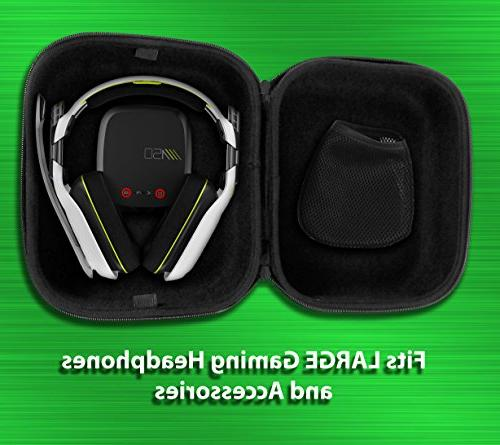 CASEMATIX Protective PC Headset Case Bag - Sennheiser GAME ONE PC 363D , PC , GAME ZERO Wired or for PC Mac and XBOX
