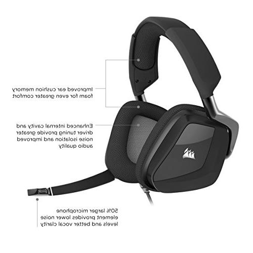 CORSAIR VOID PRO USB Headset Dolby 7.1 Surround Headphones for PC - Discord - Drivers