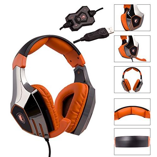 SADES Stereo Gaming Headset Headphone with