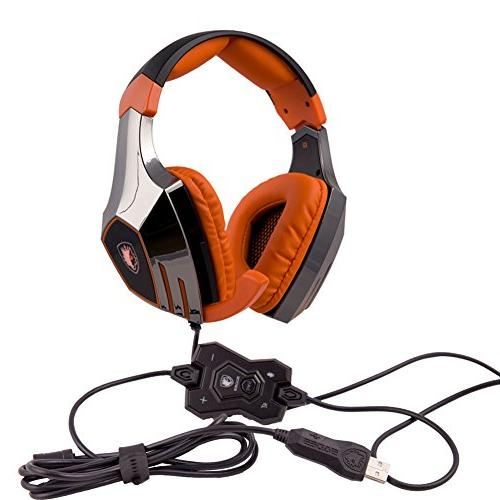 SADES Stereo Pro USB Gaming Headset Headphone with High