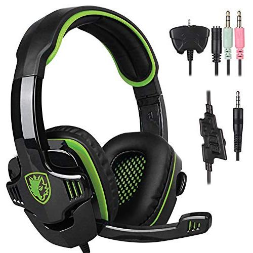 Stereo Gaming Headphone, SADES SA708GT Headset Earphone with