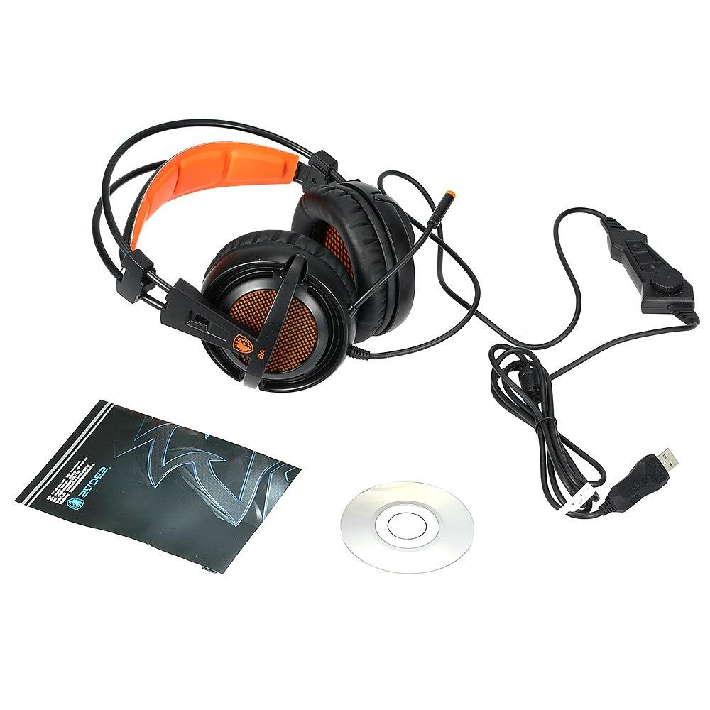 SADES <font><b>USB</b></font> Stereo wired <font><b>gaming</b></font> headphones game over for computer