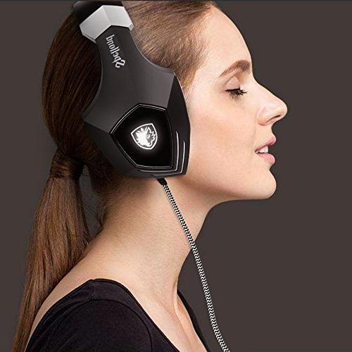 Over Headsets Heaphones with Microphone Isolating Volume Light for MAC