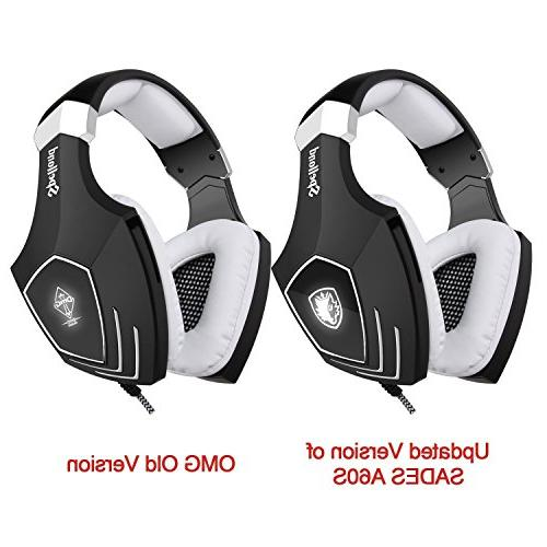 SADES A60/OMG Over Heaphones Noise Isolating Volume Light PC MAC