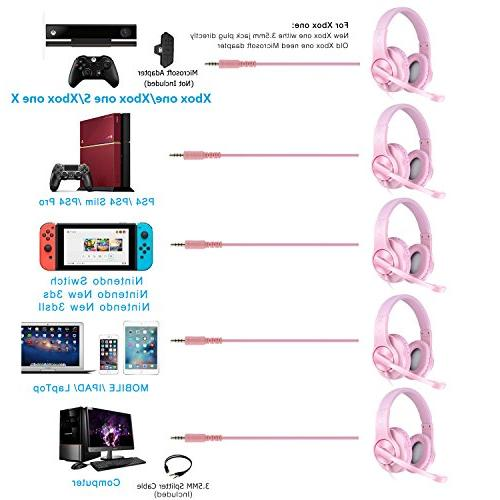 Headset Gaming PS4 ,Xbox Noise Isolation, Over-Ear Headphones with Mic ,Stereo Headphones Earphone Laptop, Mac,