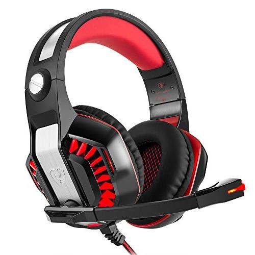 Beexcellent GM-2 Surround Sound Gaming Noise Cancelling Headphones Mic and LED Stereo VR, Computer Game, Xbox iPad, Laptop