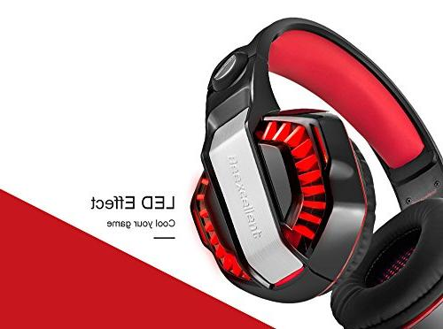 Beexcellent GM-2 Surround Gaming Noise Mic LED Stereo PC Headset for VR, PS4, Xbox Laptop