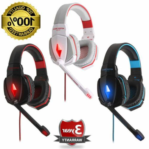 black game gaming headset 3 5mm stereo