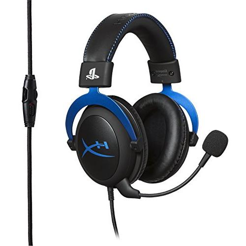 HyperX Gaming Headset - Officially Interactive LLC for PS4 - Black/Blue