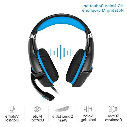 DeepDream Stereo Gaming Headset GM-5 Mic, Control Compatible Nintendo Xbox PlayStation PC