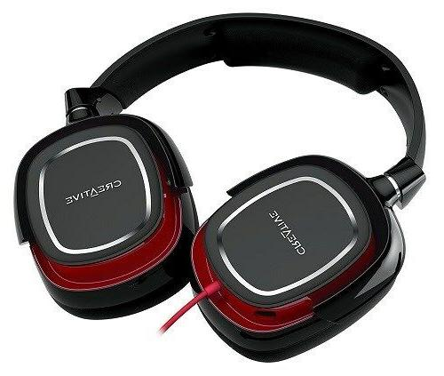 draco hs880 gaming headset red and black