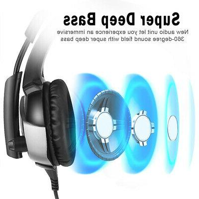 E-sports PC Gaming Headset Cool Wired With LED