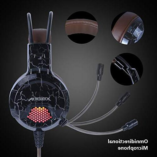 XIBERIA Headset with Wired Stereo Volume Control Enhanced Noise Canceling with for PC PS4