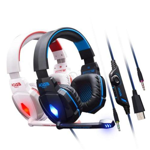EACH LED 3.5mm Headphone PC