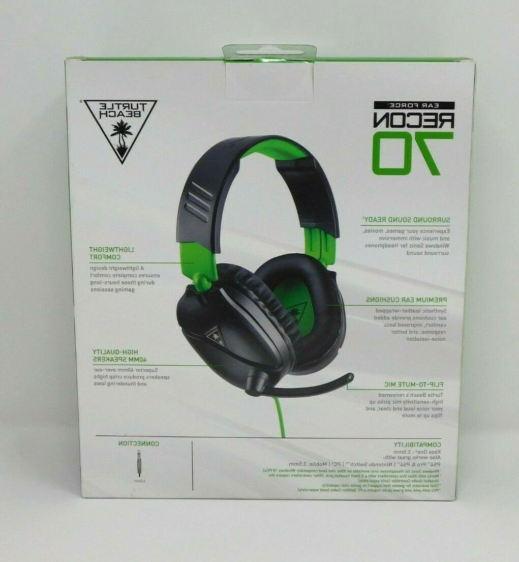 Turtle Ear Force Recon 70 Headset Xbox Black &