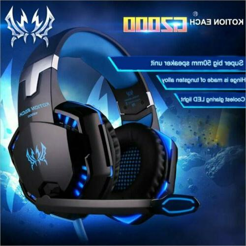 G2000 Stereo Bass Gaming Headset for Xbox One, PS4, Switch,