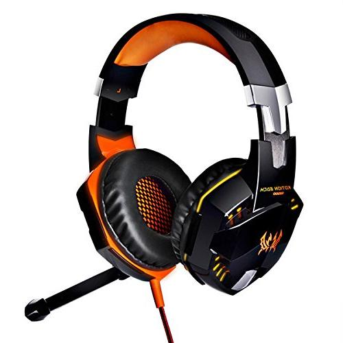 KOTION Game Gaming Headphone Earphone Stereo Bass LED for Game