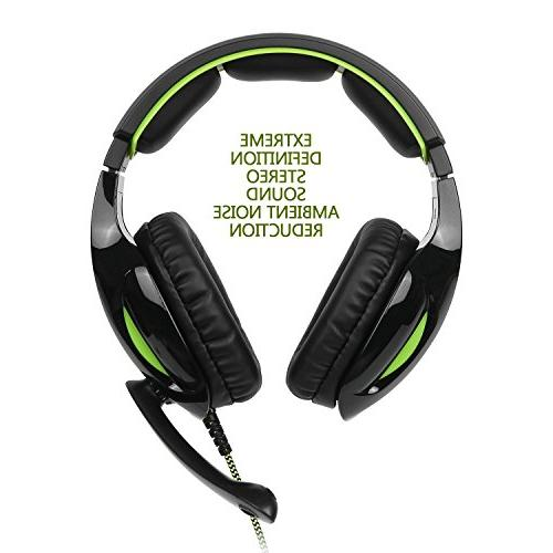 SUPSOO G813 Gaming Headset Stereo Wired Over Headset & Control Xbox