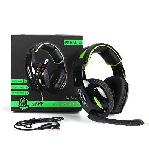 SUPSOO Gaming Wired Over Headset Mic&Noise & Xbox One/PC/Mac/PS4/Nintendo/Phone