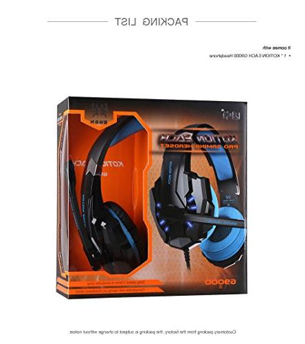KOTION Gaming 3.5mm Game Headset with LED for Phones